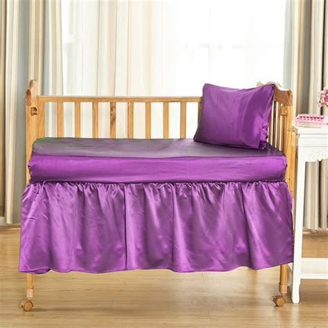 crib bed skirt 25 momme silk crib bedskirt