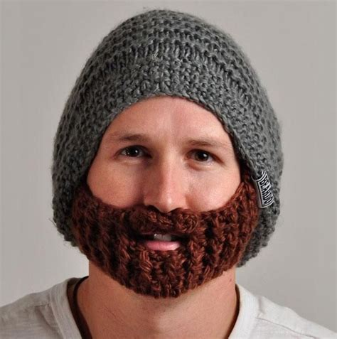 knitted beard knitted beard hat creative stuff