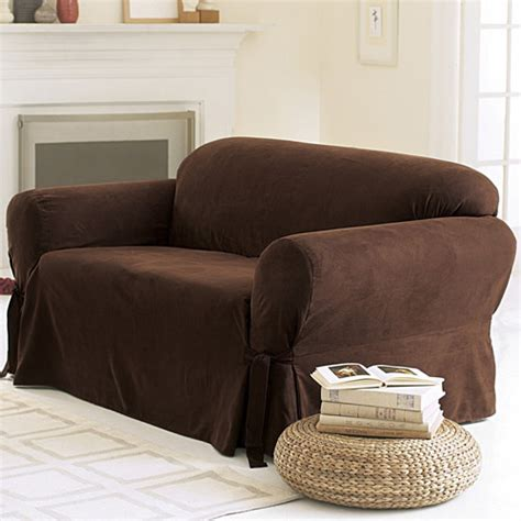 sofa slipcovers walmart sure fit soft suede sofa cover walmart