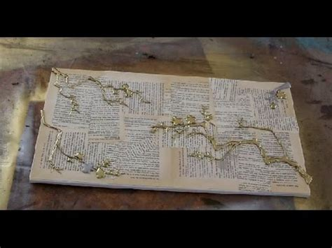 how to decoupage on canvas how to decoupage vintage paper onto canvas