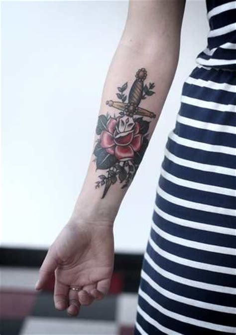 dagger and rose tattoo tattoo shortlist