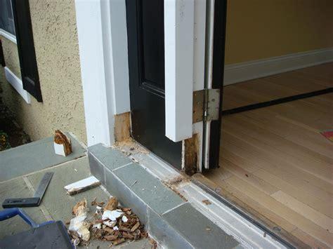 repairing exterior door frame door frame how to repair a door frame