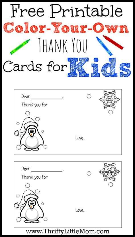make free printable cards color your own printable thank you cards for