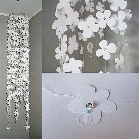 hanging paper crafts hanging flower mobile with paper cutouts and