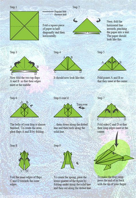 origami frog template jumping origami frog