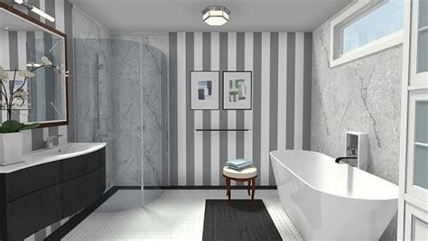 modern wallpaper bathroom modern black white bathroom with marble accents