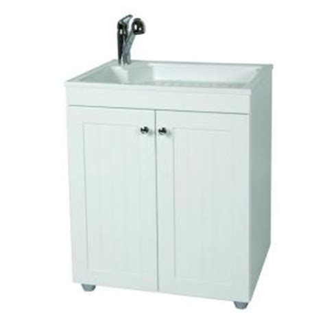 laundry sink with cabinet glacier bay all in one 27 5 in w x 21 8 in d composite laundry sink with faucet and storage