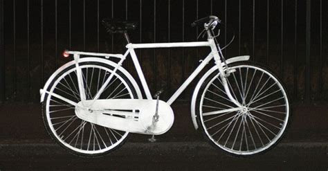 glow in the bike paint volvo volvo s glowing bike spray lights up nighttime cyclists
