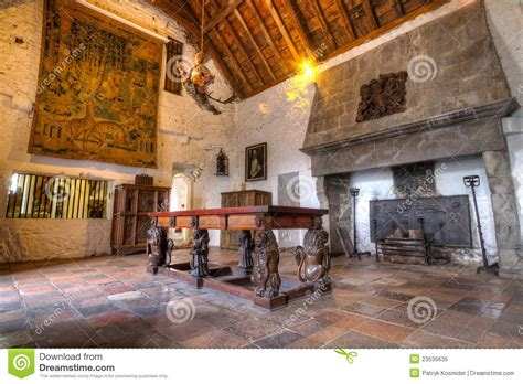 American Kitchens Designs dinning room of 15th century bunratty castle editorial