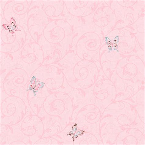 Hello Kitty Wall Murals candice olson pink butterfly scroll wallpaper