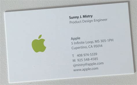 Apple Business Card Apple For Volvoab