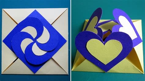 how to make a greeting card with paper card sealed with hearts learn how to make a