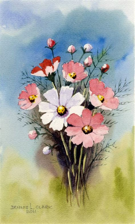 painting lessons flowers how to paint cosmos flowers free 2 hour live recorded