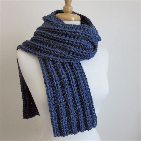 how to knit a winter scarf blue knit scarf crochet winter scarf mens scarves