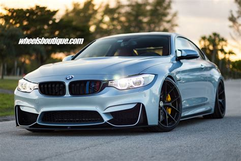Bmw M4 by Bmw M4 Tries On Matte Black Wheels On A Lowered