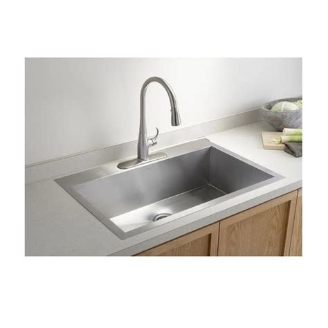top mounted kitchen sinks 33 inch top mount drop in stainless steel single