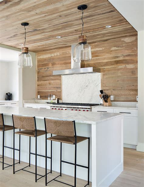 farmhouse kitchen backsplash wood planked kitchen backsplash mountainmodernlife