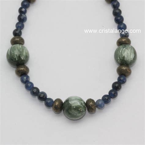 semi precious stones jewelry seraphinite pyrite and sodalite necklace semi