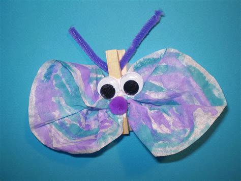 butterfly craft for coffee filter butterfly crafts for