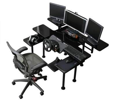 roccaforte ultimate gaming desk m s y roccaforte ultimate gaming desk mcs 010 techbuy
