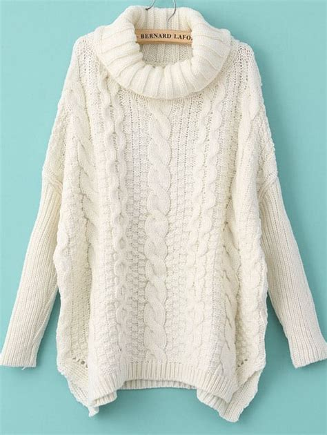 for sweater turtleneck chunky cable knit sweater shein sheinside