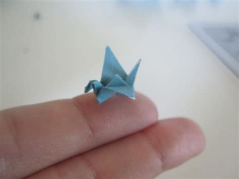 smallest origami crane a flock of cranes
