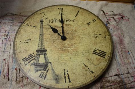 decoupage clock decoupage a clock a junk upcycle tutorial