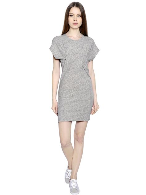wool knitted dress iro light cotton wool knit dress in gray light grey lyst