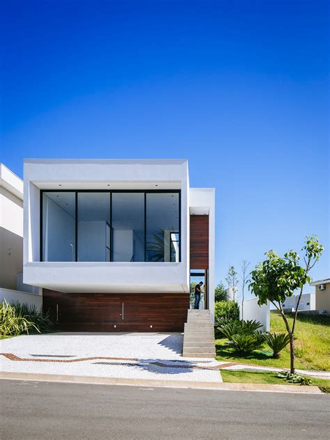 modern home architecture sustainable four level home in brazil exhibiting a bold