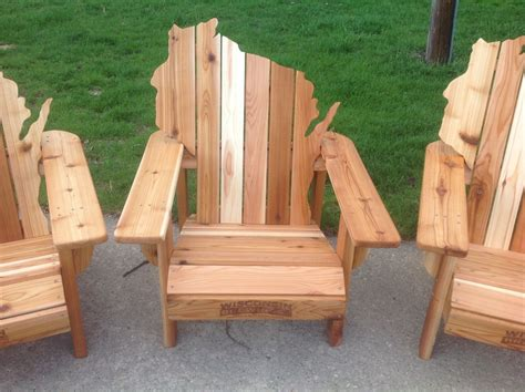 adirondack chairs cedar wood handmade cedar adirondack wisconsin chairs with