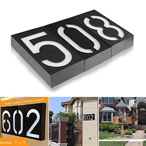 lighted address sign solar solar lighted address plaques address sign for your home