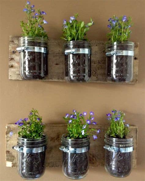 jar herb garden wall diy jar herb garden and herb ideas the whoot