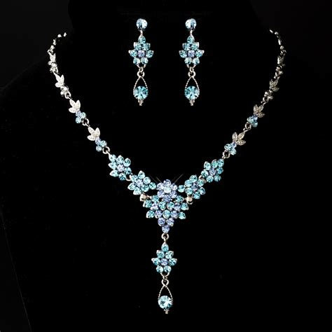 crystals for jewelry silver aqua blue drop swarovski vintage jewelry