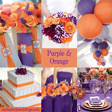 orange color theme purple wedding color combination options exclusively