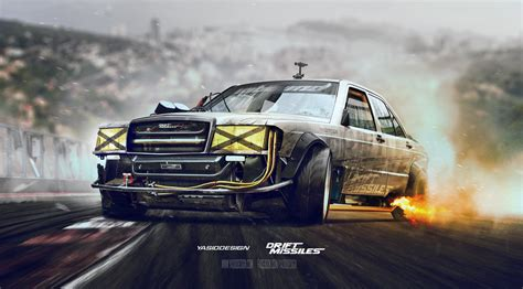 Car Photoshop Background by Mercedes Drift Car Photoshop Drift Missile