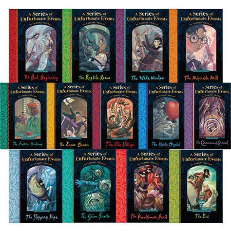 lemony snicket picture book lemony snicket a series of unfortunate events 13 books set