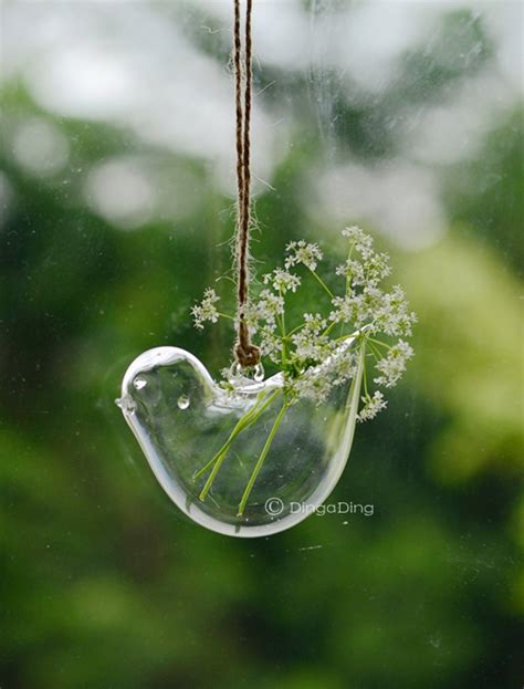 glass hanging planters bird glass hanging planter container vase