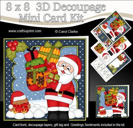 3d decoupage kits 8x8 santa mini kit 3d decoupage cup582519 359