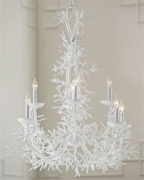 white coral chandelier janice minor quot white coral quot chandelier