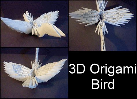 3d Origami Bird By Xcrow9x On Deviantart
