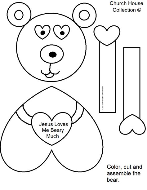 crafts templates church house collection quot jesus me beary much
