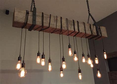 modern rustic light fixtures industrial lighting 60 quot reclaimed barn wood beam with