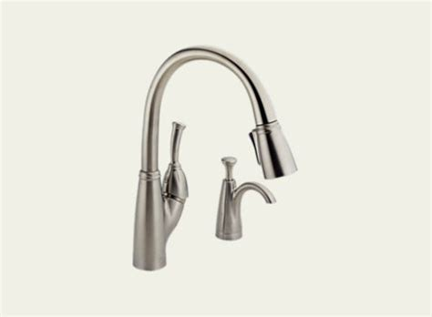 allora kitchen faucet delta allora single handle pull kitchen faucet with soap dispenser 989 sssd dst