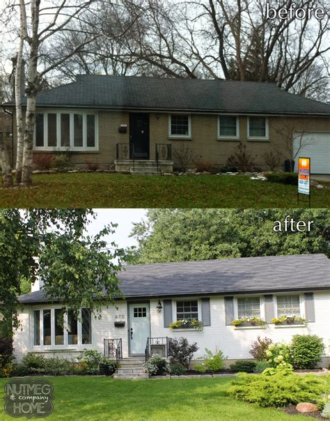 before and after small home nutmeg company home before after curb appeal