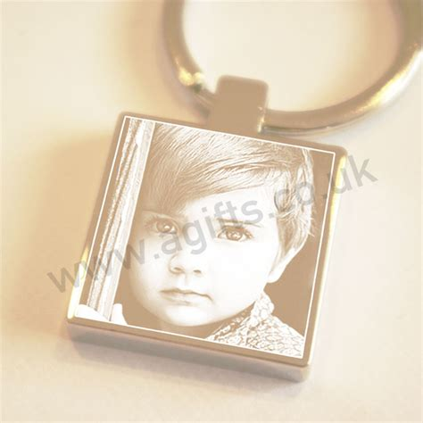 engraved gifts keyring personalised photo engraved keychain