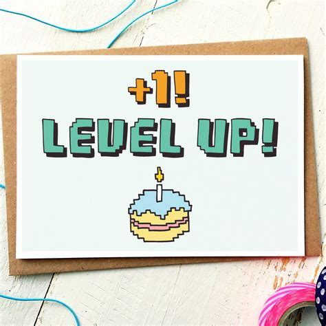 up birthday cards level up birthday card finch and the fallow