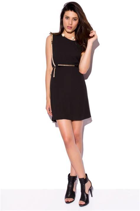 vestido de fiesta corto negro de de gasa con adornos - Vestidos De Fiesta Negro Corto
