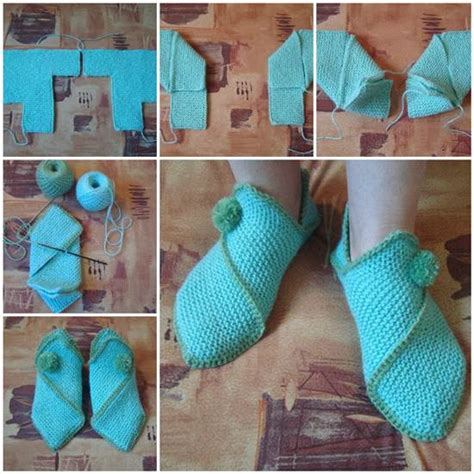 knit home wonderful diy knitted home slippers
