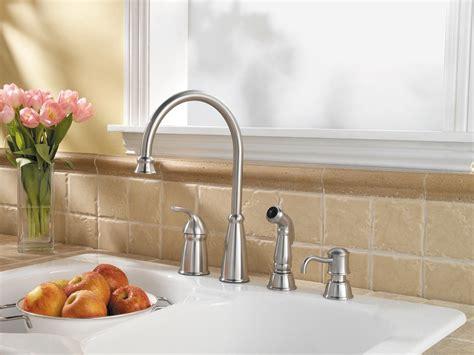 4 kitchen sink faucet pfister avalon 1 handle 4 high arc kitchen faucet w