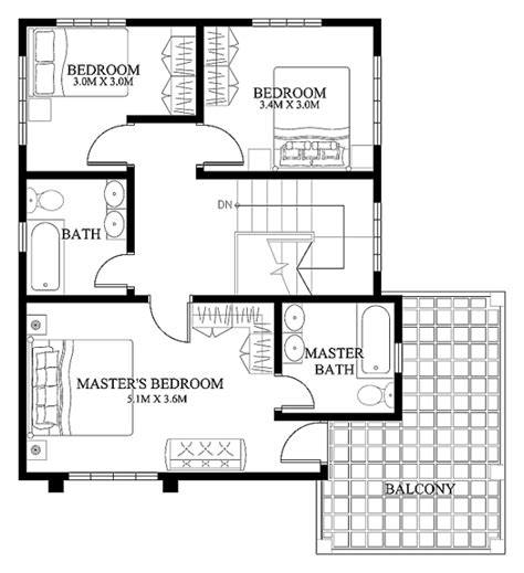 2 floor house plans mhd 2012004 eplans